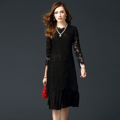 Alaroo - Lace Mock Two-Piece Dress
