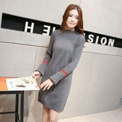 Romantica - Long-Sleeve Slit-Side Long Sweater