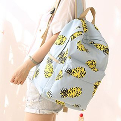 Canvas Love - Pineapple Print Canvas Backpack