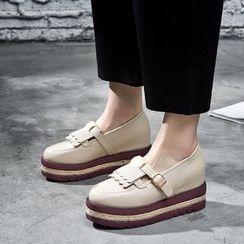 VIAN - 流蘇内增高厚底鞋