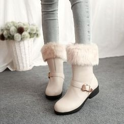 Pastel Pairs - Furry Short Boots