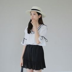 WITH IPUN - Inset Shorts Pleated Mini Skirt