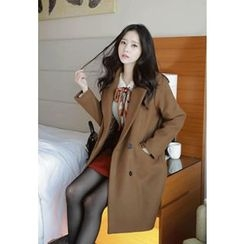MyFiona - Double-Breasted Wool Blend Coat