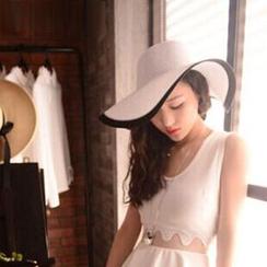 Anfory - Two-Tone Straw Hat