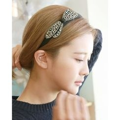 Miss21 Korea - Rhinestone Bow Hair Band