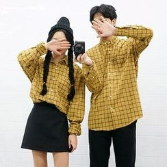 Seoul Homme - Couple Checked Cotton Shirt