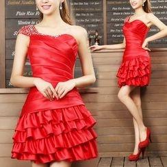 Bridal Workshop - 单肩包边塑身礼服裙
