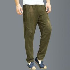 Sparrow Farm - Plain Straight-Leg Pants