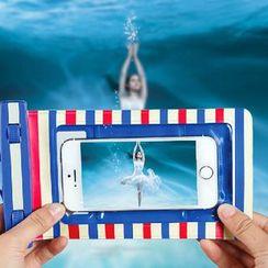 Hagodate - Striped Waterproof Phone Pouch