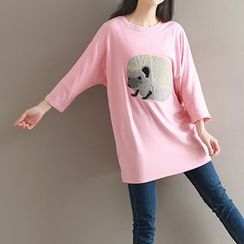 Salisha - 3/4-Sleeve Printed T-Shirt
