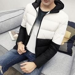 Besto - Color Block Hooded Padded Jacket