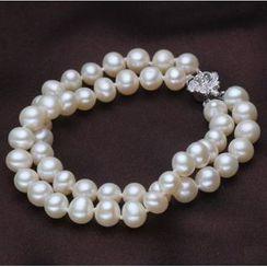 ViVi Pearl - Double-Strand Freshwater Pearl Bracelet