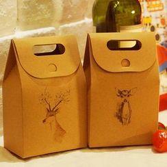 Homey House - 动物印花牛皮纸礼物包