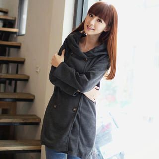 eFashion - Double-Breasted Hooded Coat