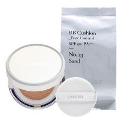 Laneige - BB Cushion Pore Control SPF50+ PA+++ With Refill (#23 Sand)