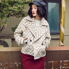 Dimosqisi - Wool Blend Patterned Buttoned Jacket