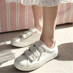 QNIGIRLS - Vecro Canvas Sneakers