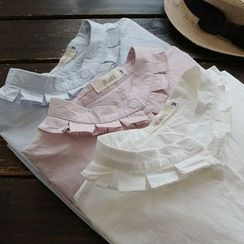 YOYO - Long-Sleeve Frilled Blouse