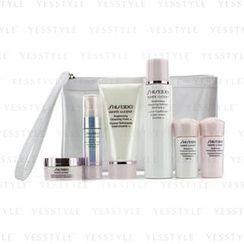 Shiseido - White Lucent Set: Cleansing Foam 50ml + Softener 75ml + Serum 9ml + Emulsion 15ml + Emulsion SPF 15 15ml + Cream 18ml + Bag