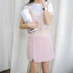 Porta - Pocketed A-Line Skirt