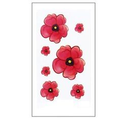 Alinda - Set of 10: Floral Faux Tattoo Stickers