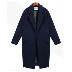 Gittyfish - Notched-Lapel Buttoned Coat