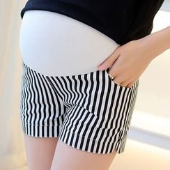 NEUF - Maternity Striped Shorts