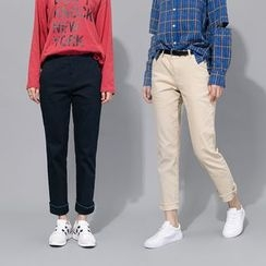 Heynew - Cropped Straight Fit Pants
