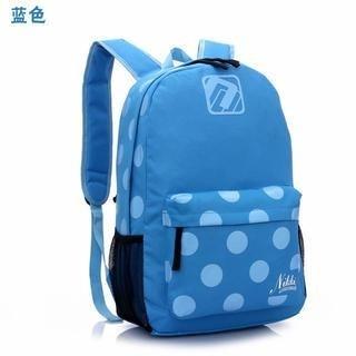 Miss Sweety - Polka Dot Canvas Backpack