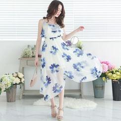 东京著衣 - 碎花连身长裙