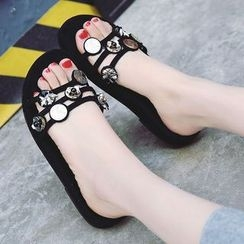 Chryse - Platform Slide Sandals
