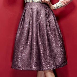 ELF SACK - Glitter A-Line Midi Skirt