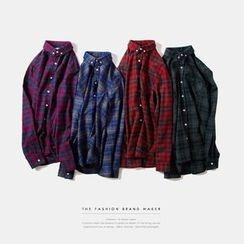 Newin - Plaid Long-Sleeve Shirt