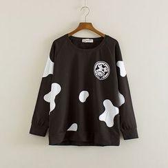 Mushi - Cow Print Sweatshirt