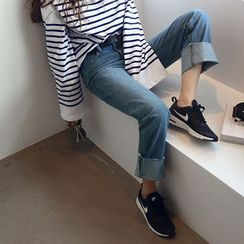 NANING9 - Washed Blue Jeans