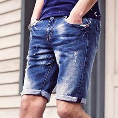 Dot2Dot - 水洗牛仔短裤