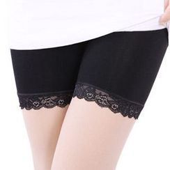 nooyi - Lace Panel Boyshorts