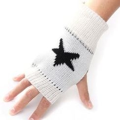 Nirvana Nation - Star Pattern Fingerless Gloves