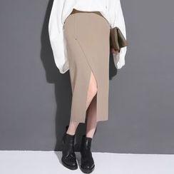 Sonne - Slit-Front Knit Midi Skirt