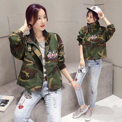 Romantica - Camouflage Zip Jacket