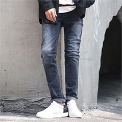 Superstar.i - Washed Tapered Jeans