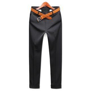 Seoul Homme - Cuff-Hem Cropped Pants