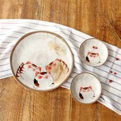 三木青禾 - 小猫印花碟子 / 碗子