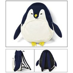 BagTown - Penguin-Accent Canvas Backpack