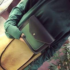 Diamante - Color Panel Shoulder Bag