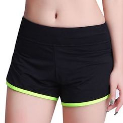 Delico - Contrast Trim Sweat Shorts