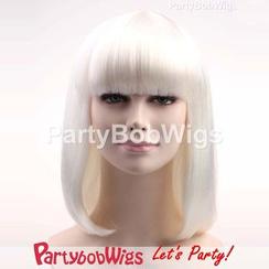 Party Wigs - PartyBobWigs - 派對BOB款中長假髮 - 白色