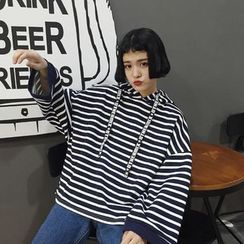 Eva Fashion - Oversized Striped  Hoodie