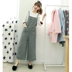 Dodostyle - Sleeveless Wide-Leg Jumper Pants