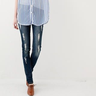 rico - Distressed Washed Skinny Jeans